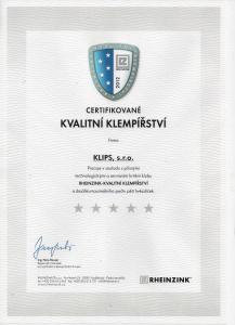 Rheinzink – Kvalitní klempířství ***** 2012
