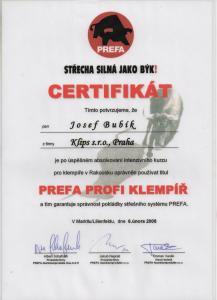 PREFA Profi klempíř