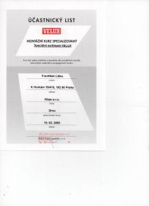 Velux – školení Speciální sortiment
