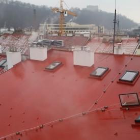 střechy - červená folie Protan Praha 8